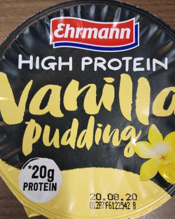 Zdjęcia - High protein pudding vanilla Ehrmann